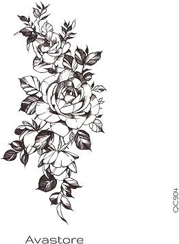 Tatouage Temporaire Femme Dessin De Rose Tatouage Ephemere Rose En Dessin Pour Femme Avastore Amazon Fr Beaute Et Parfum