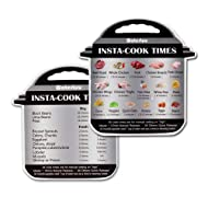 WaterLuu Instant Pot Electric Pressure Cooker Cook Times Quick Reference Guide | Instapot Accessories Magnetic Cheat Sheet Magnet Set | Insta Pot Sticker & Decal with 28 Common Prep Functions-2 Pack