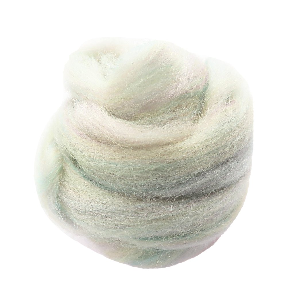 Baoblaze 10g Soft Fibre Wool Yarn Roving for Needle Felting Hand Spinning DIY Doll Needlework Crafts Brown