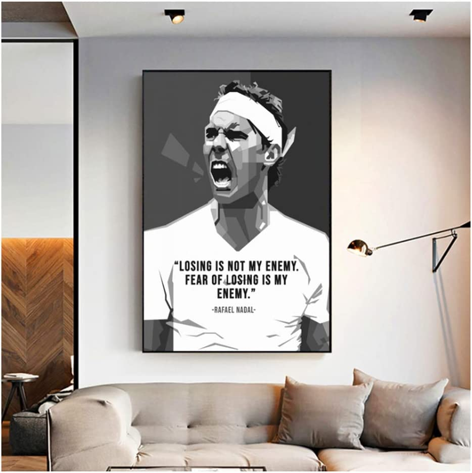 Amazon Com Suuyar Rafael Nadal Poster Canvas Painting Wall Art Picture For Living Room Home Decor Print On Canvas Wall Art Decoration Gift 60x90cm No Frame Posters Prints