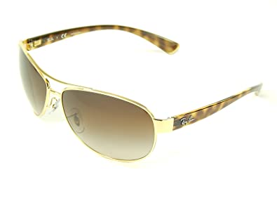 c80b458b31 Image Unavailable. Image not available for. Color  New Ray Ban Oversized  Aviator RB3386 001 13 Gold Brown Grad Lens 63mm Sunglasses