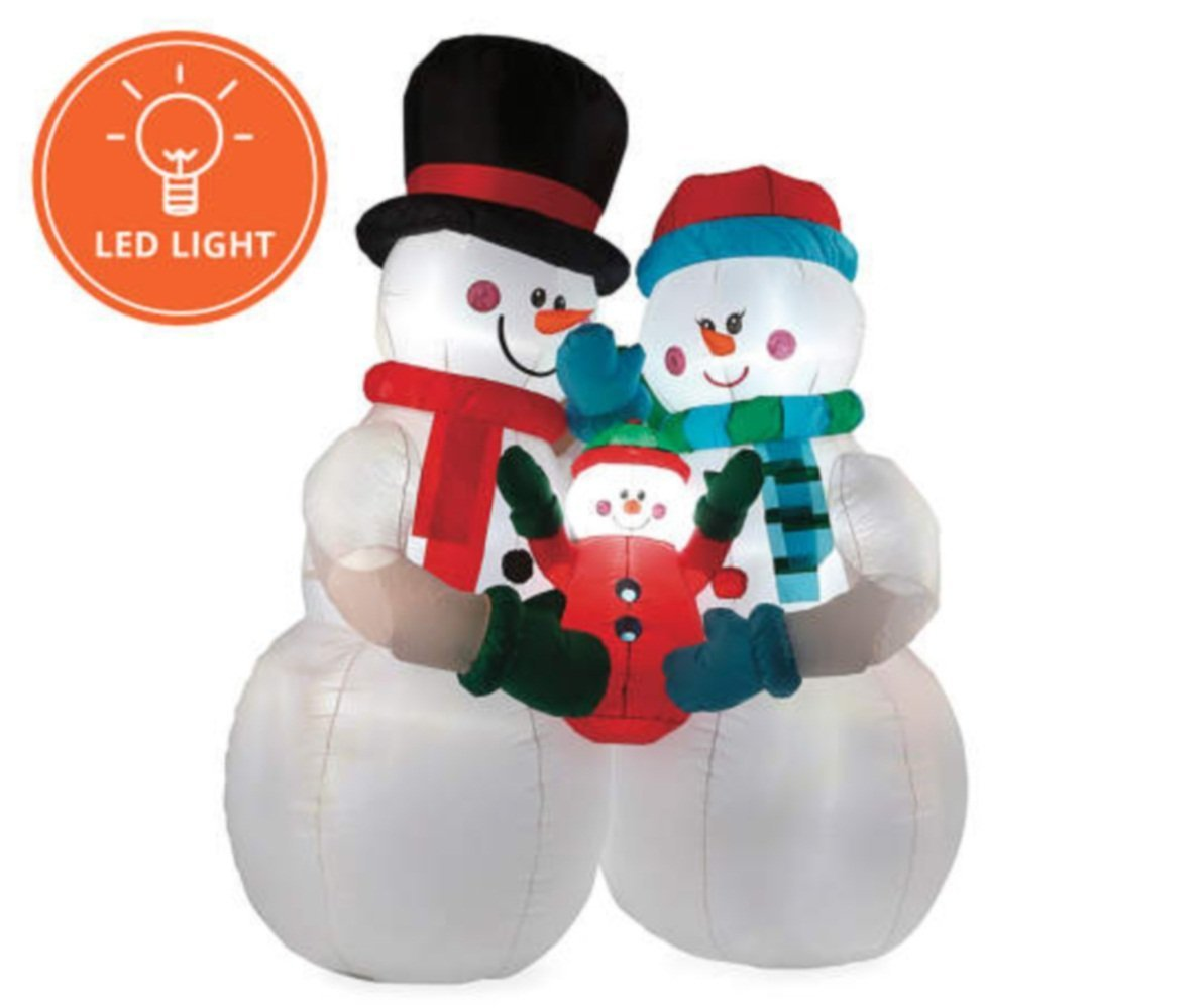 8FT Inflatable Snowman Family Indoor Outdoor Christmas Holiday ...