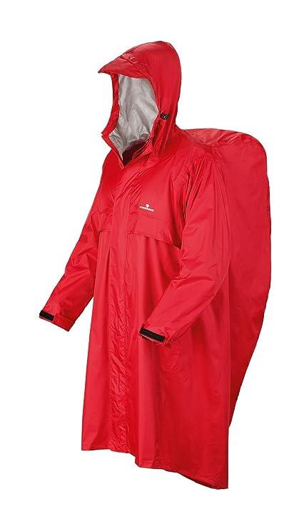 008156e624edec Ferrino Trekker, Mantella Impermeabile Uomo, Rosso, S/M: Amazon.it ...