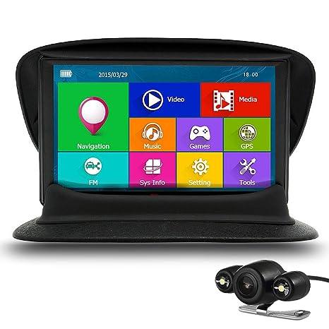 """Junsun Navegador GPS para Coche 7"""" con Bluetooth Pantalla Táctil con Camara Visión Trasera Mapa"""