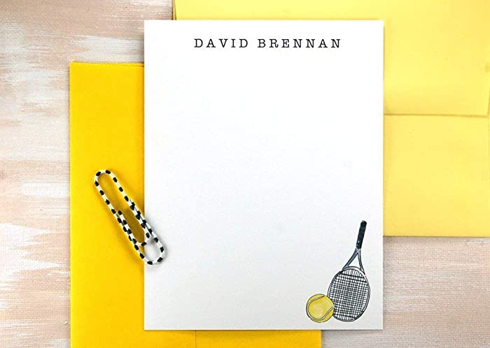 Image Unavailable Not Available For Color Kids Personalized Stationary Tennis Gifts Stationery Set Birthday Gift Thank You Cards