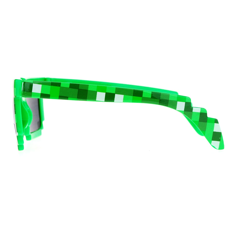 SA106 Pixelated 8 Bit Retro Video Game Horned Sunglasses