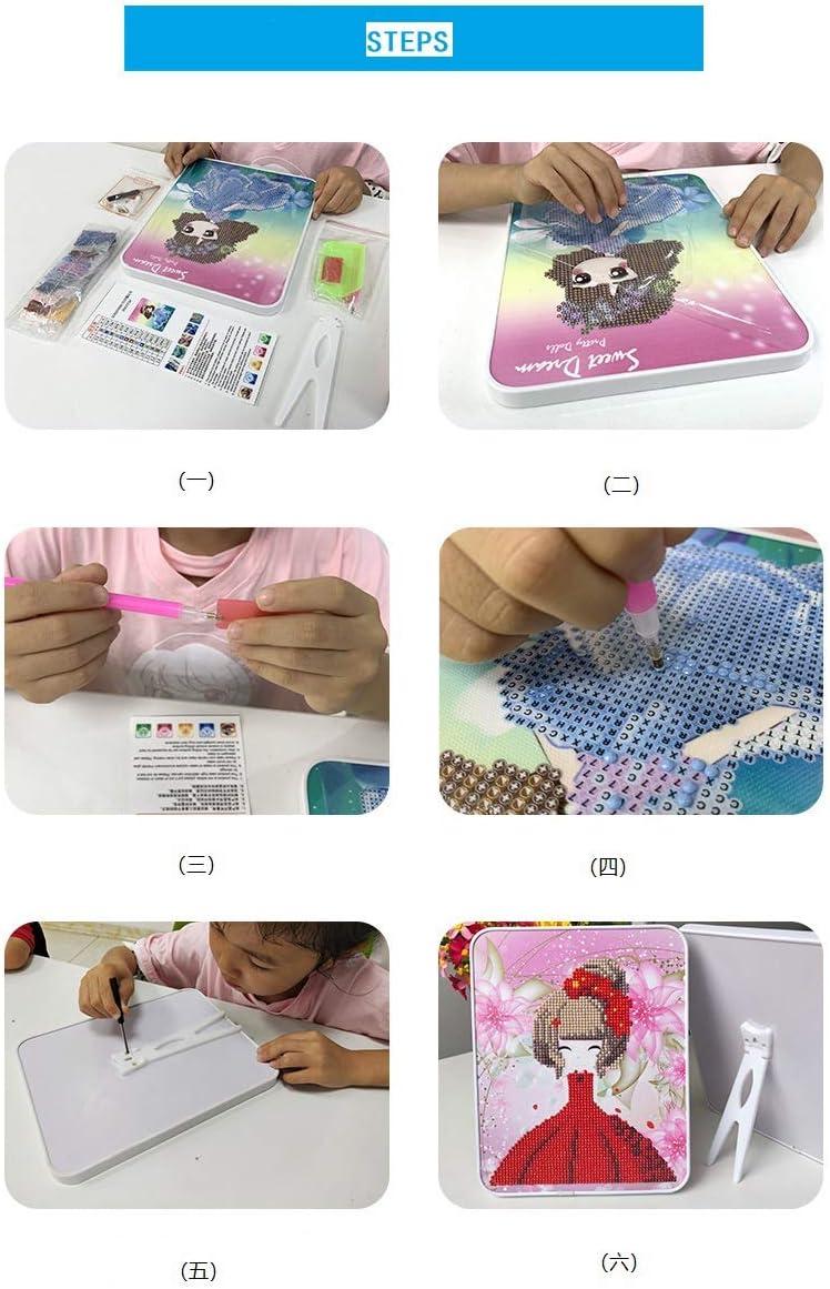 Ukerdo DIY Diamante Pintura Kits Panda Imagens para Ni/ño Trabajo Manual Escritorio Decoraci/ón Juguete Regalo