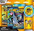 Pokemon TCG: Sun & Moon Guardians Rising 3 Pack Blister, Featuring Raikou Collector's Pin