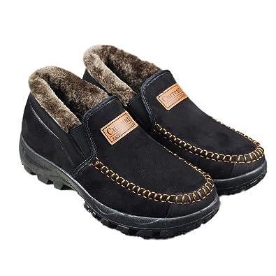 Senior Citizen Men's Anti-Slip Winter Cotton Hiking Boot Outdoor Backpacking Shoe