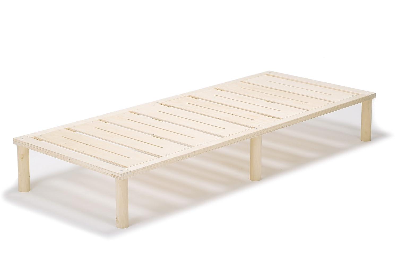 Gigapur G1 26882 Bett   Bettgestell mit Lattenrost   Bettrahmen belastbar bis 195 Kg   Holzbett 90 x 200 cm