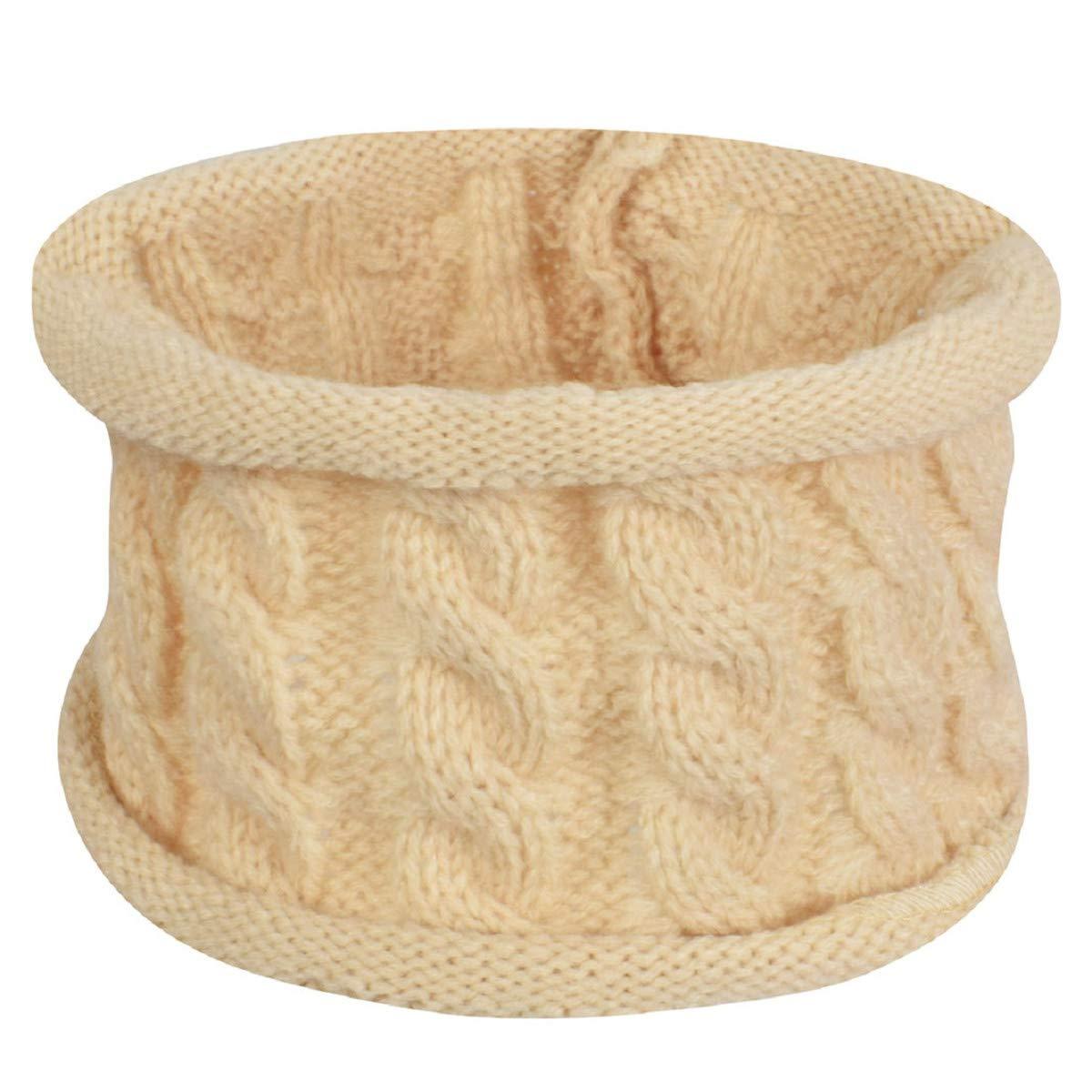 Tuopuda Sombrero para Ni/ños Y Ni/ñas Bufanda Conjunto Slouchy Invierno Grueso Bebe Beanie Gorros con Pompon Y Bufanda de Punto Cuello Redondo para 0-24 Meses Ni/ña Ni/ño