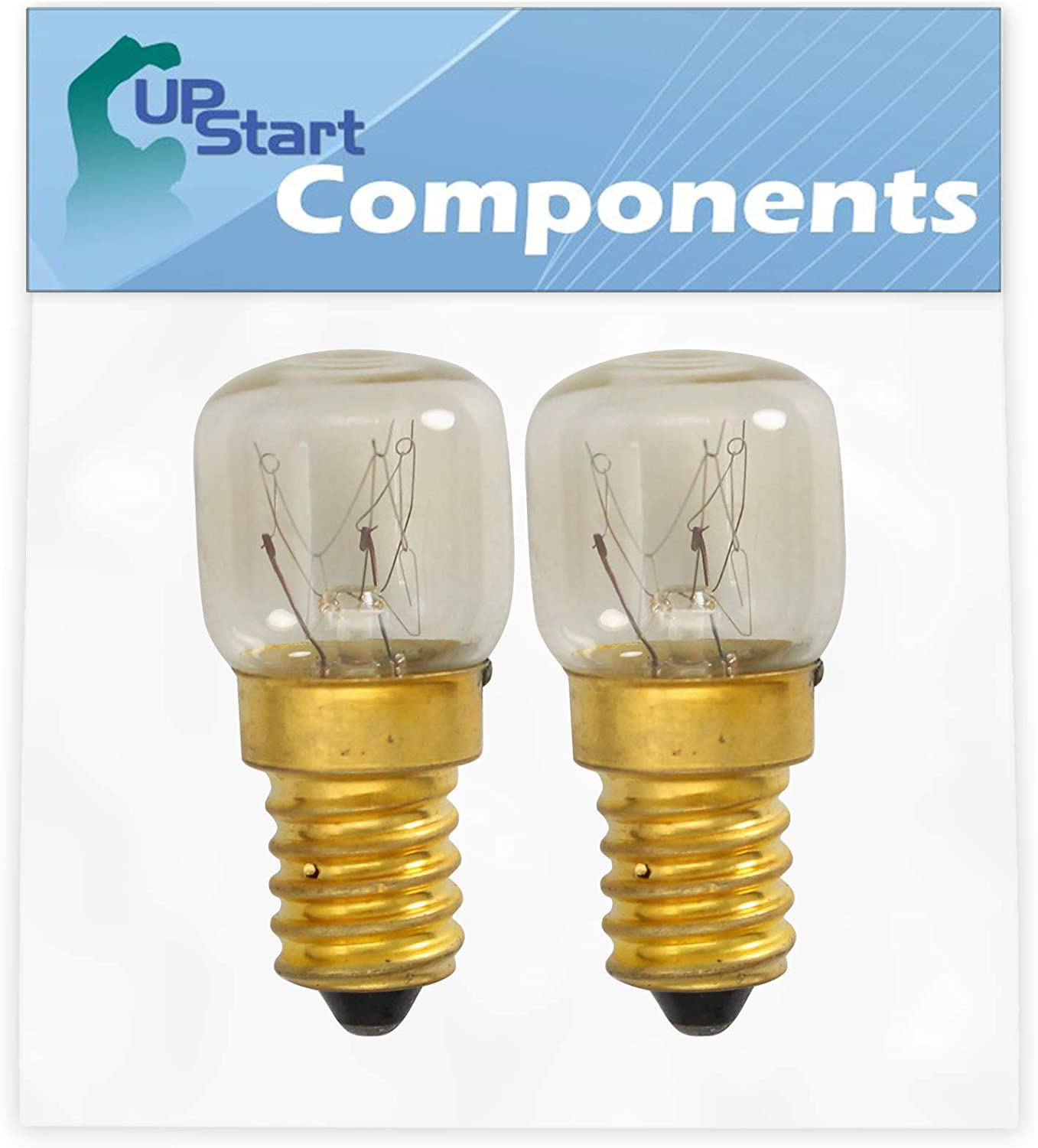 2-Pack 4173175 Light Bulb Replacement for Whirlpool & KitchenAid Ovens - Compatible with Whirlpool WP4173175 & Part Number AP6009180, 4173175, 3178521, 4452166 Light Bulbs