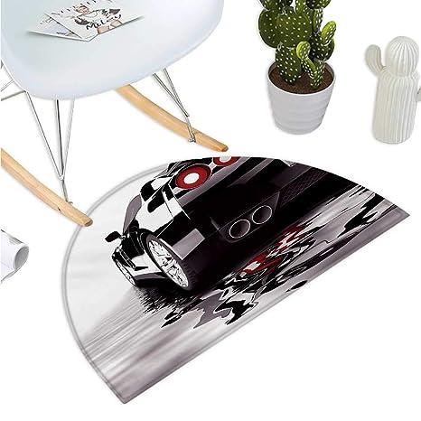 Amazon.com: Cojín semicircular para coches con diseño de ...