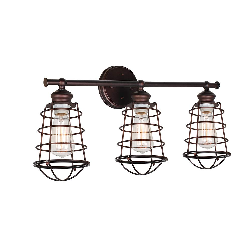 Design House 519736 Ajax 3 Light Vanity Light, Bronze by Design House