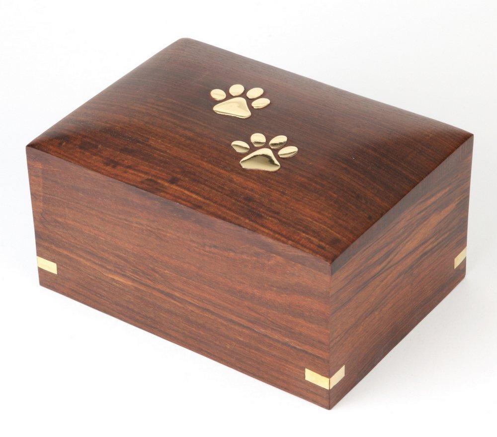 "Urns UK Wooden Pet Cremation Urn for Ashes, Elstree 7"" Medium Elstree 7"" Medium URNA4 UU540005A"