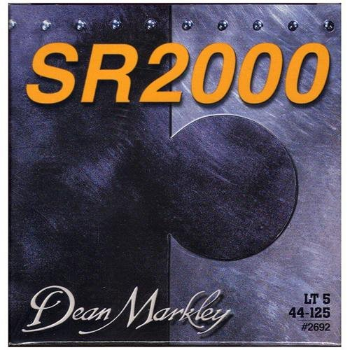 Dean Markley SR2000 Bass Strings 2692 Nickel Plated Bass Guitar Strings, 5-String, 44-125, ()