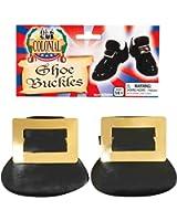 Forum Novelties Colonial Shoe Buckles (Gold)-