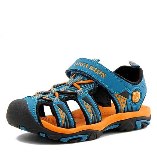 Sandalias Cerradas Velcro Niño Zapatillas Verano Zapatos Niña Deportivas Senderismo Trekking Playa Agua Unisex: Amazon.es: Zapatos y complementos