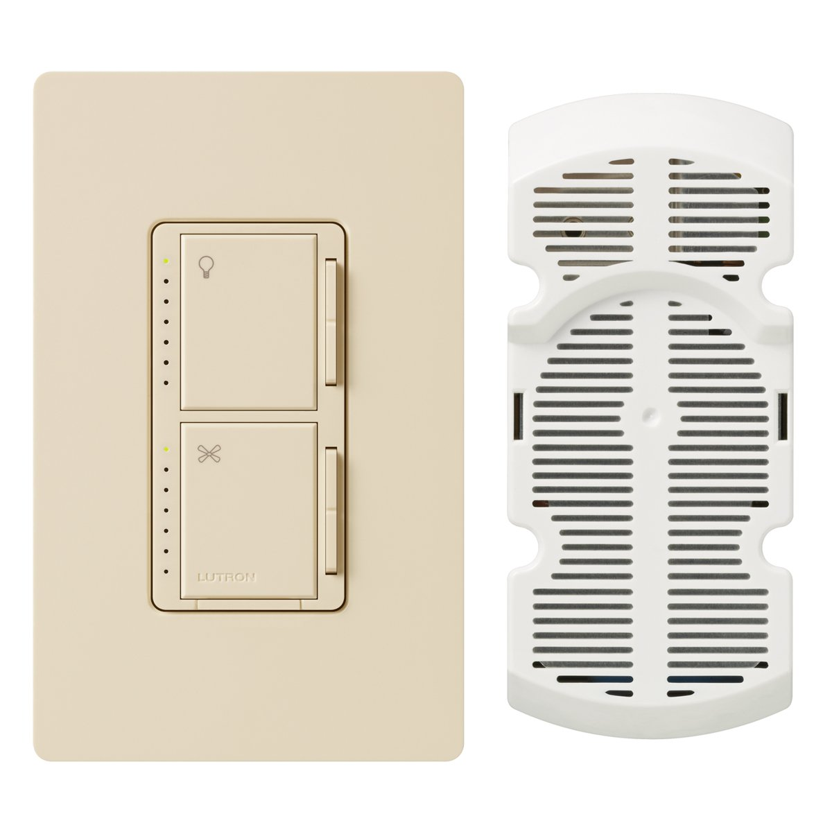 Lutron MA-LFQHW-LA Maestro 1-Amp 300-watt Single Pole Fan and Light Control, Light Almond by Lutron (Image #1)