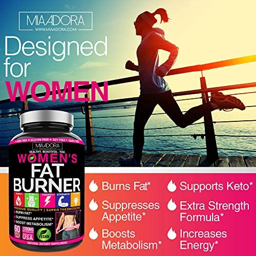Women's Fat Burner Pills for Fast Weight Loss [Super Thermogenic] Best Natural Diet Pills, Metabolism Booster & Appetite Suppressant Supplement, Carb Blocker, Extra Strength & Energy, Vegan, 60 Caps 4