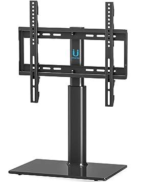 Fitueyes Meuble Tv Pivotant Design Support Tv Pieds En Verre à Téléviseur De 32 à 55 Pouces Tt104501gb
