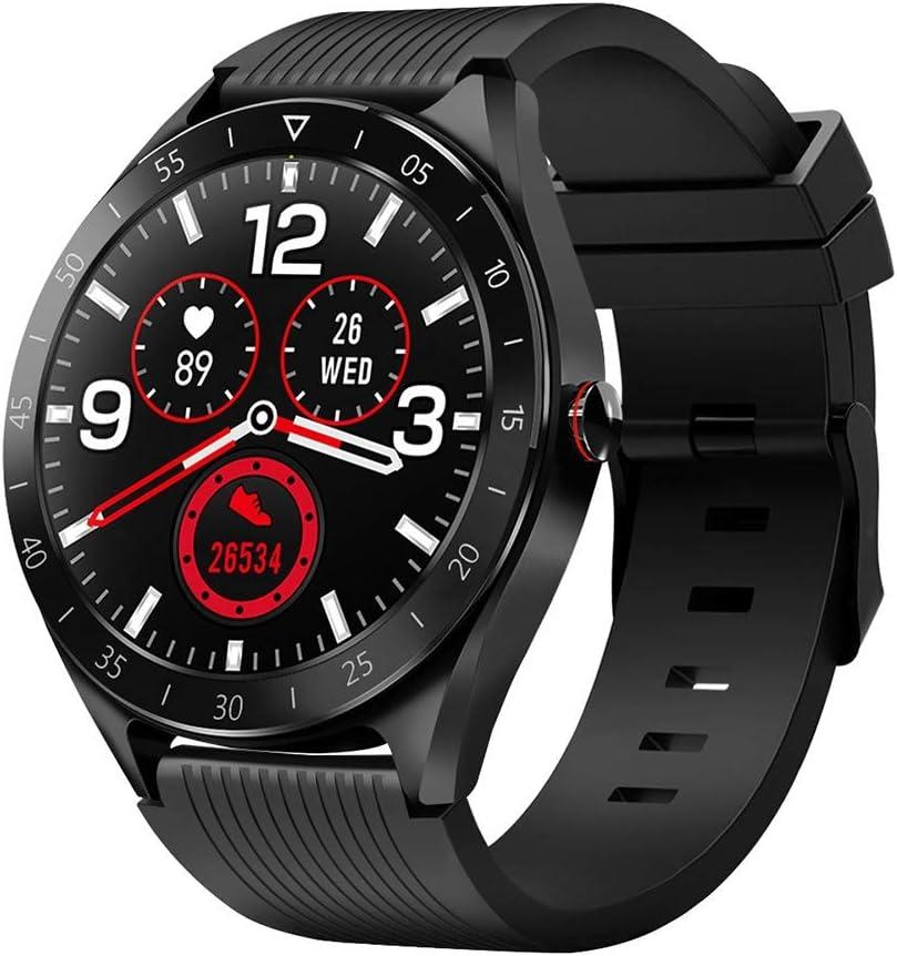 Reloj Inteligente Smartwatch IP68 Impermeable Reloj Deportivo Fitness con 1.3'' Pantalla Táctil Completa Pulsómetro,Monitor Sueño Calorías GPS,Podómetro,Reloj de Fitness para Hombre Mujer iOS Android