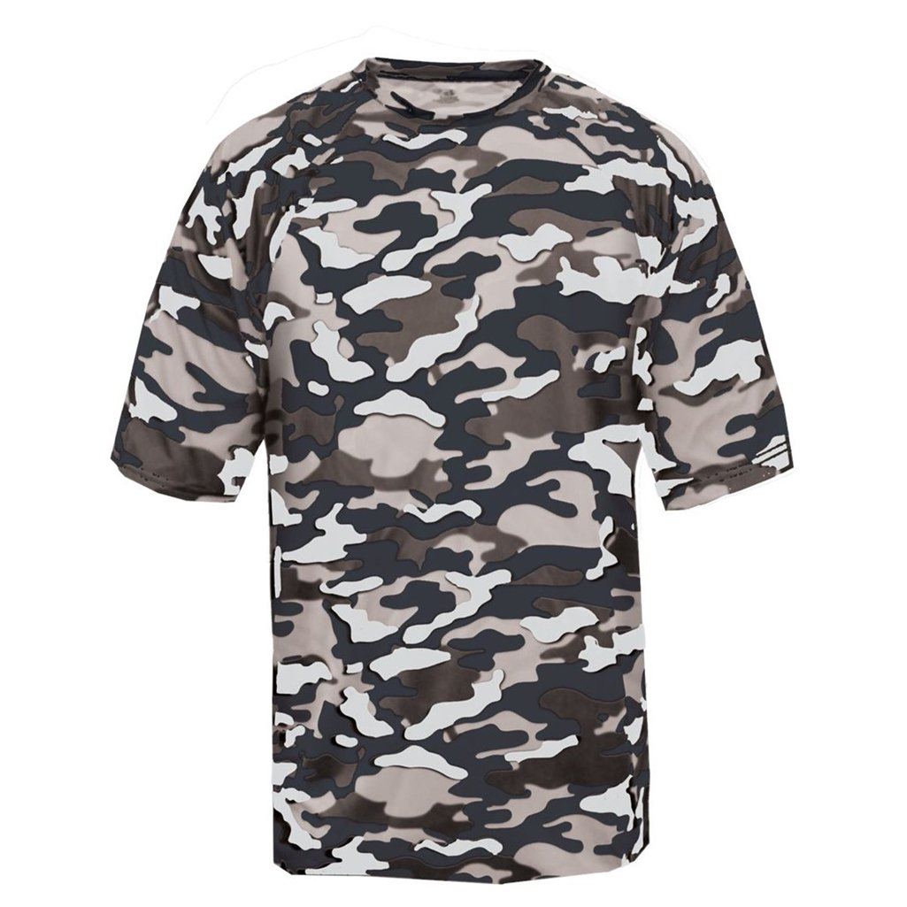 Badger Sport Youth Camouflage Tee (Medium, Navy Camo) by Badger Sport