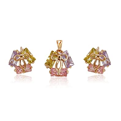 Jewelry & Watches Jewelry Sets Jewelery Set Gold Plated 18ct Xuping Cheapest Price From Our Site