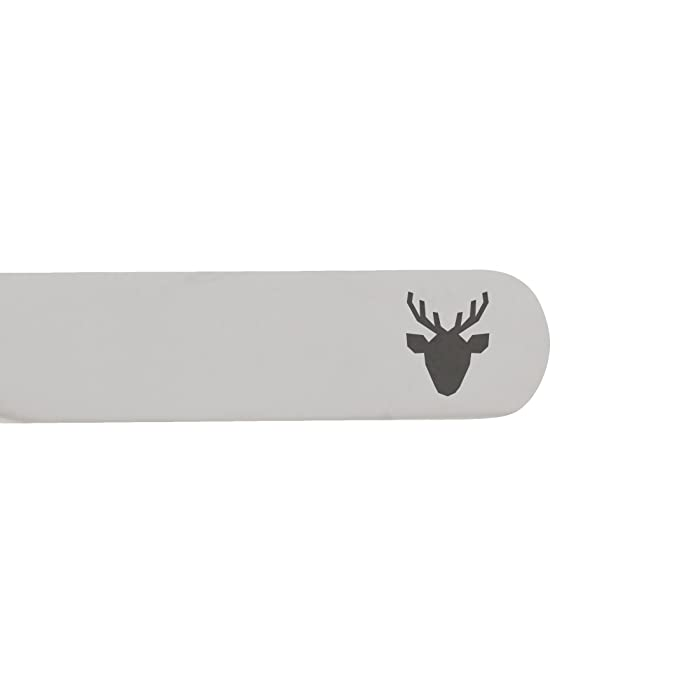 Made In USA MODERN GOODS SHOP Stainless Steel Collar Stays With Laser Engraved Cat Eyes Design 2.5 Inch Metal Collar Stiffeners