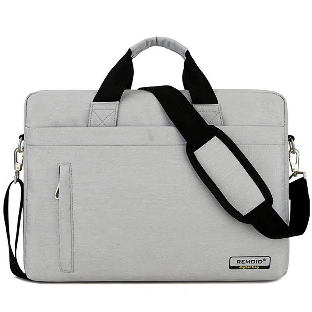 Bolso Bandolera para portátil Compatible Compatible Compatible con MacBook Pro de 15-15.6 Pulgadas, Tableta Netbook Ultrabook, maletín de Lona con Funda Protectora para el Bolso de Mano, Negro (Color : Blanco) c329e3