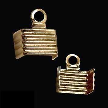 50pcs Crimp Bead Chain End. Rhodium Plated Brass Crimp Connector