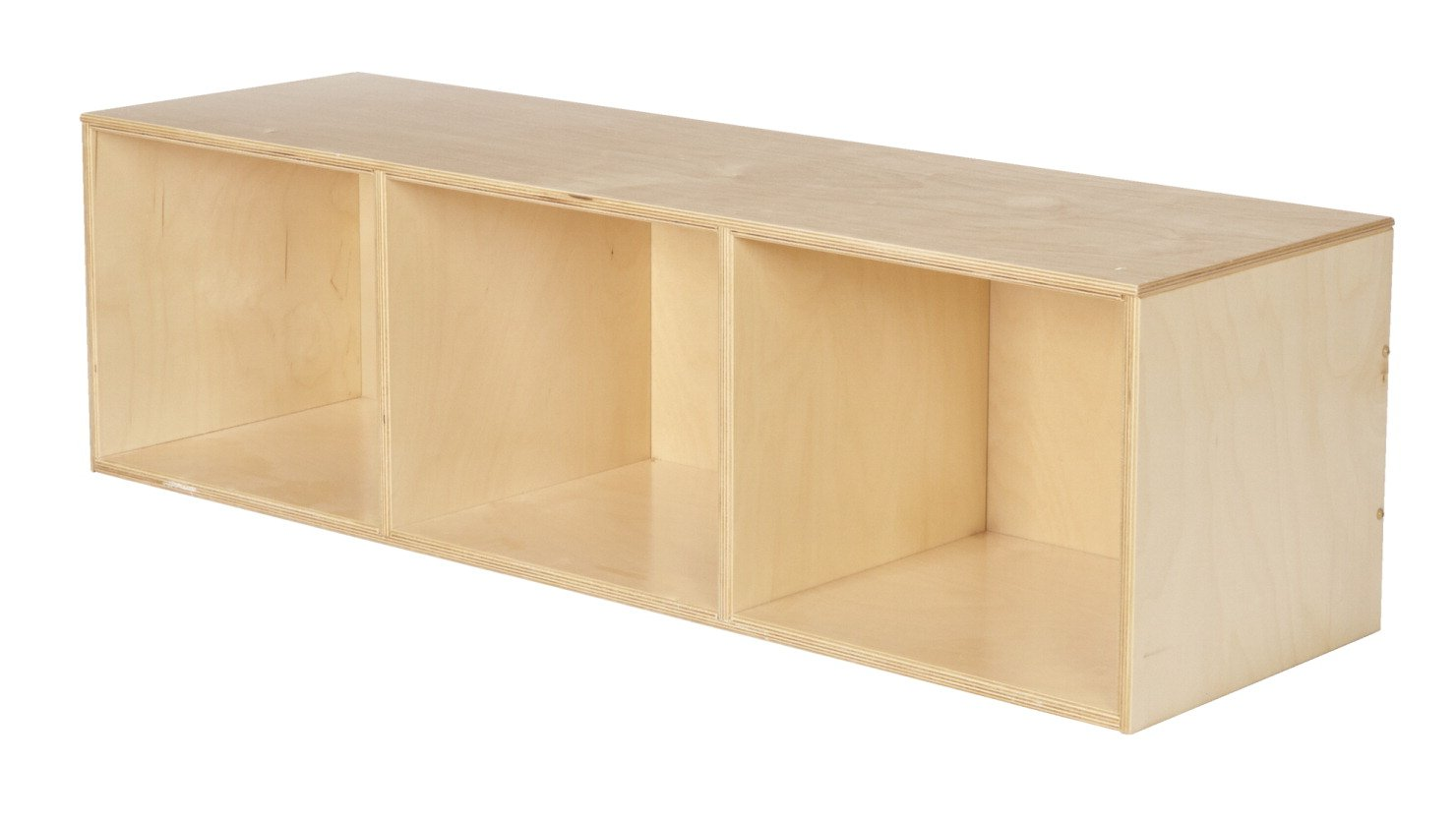 Childcraft 3-Compartment Stacker Compartment Storage, 47-3/4 x 14-1/4 x 13-3/4 Inches