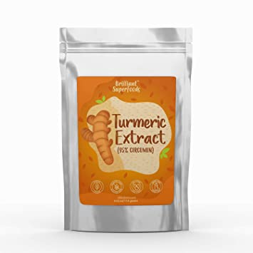 Turmeric Curcumin Extract Powder - 95% Potency - Natural Yellow Orange Food  Coloring - Pure Powerful...