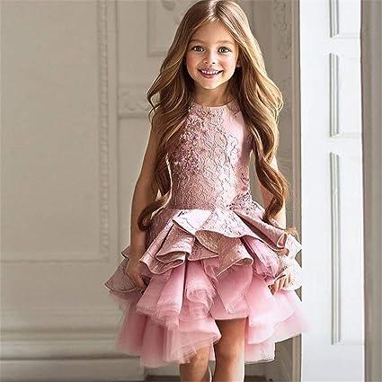 Maybesky Abito per Bambino Vestito da Bambina Abito da Principessa Fiore Ragazza  Abito da Sposa Abito 6ea3061dc8d