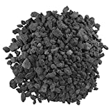 American Fireglass LAVA-M-10 American Fire Glass Medium Sized Black Lava Rock - Porous, All-Natural, 1/2 Inch to 1 Inch Thick x 10 Pounds