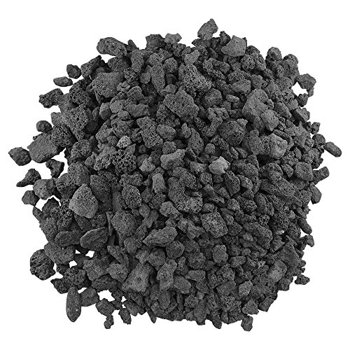 Gas Grill Lava Rock - American Fireglass LAVA-M-10 American Fire Glass Medium Sized Black Lava Rock - Porous, All-Natural, 1/2 Inch to 1 Inch Thick x 10 Pounds,