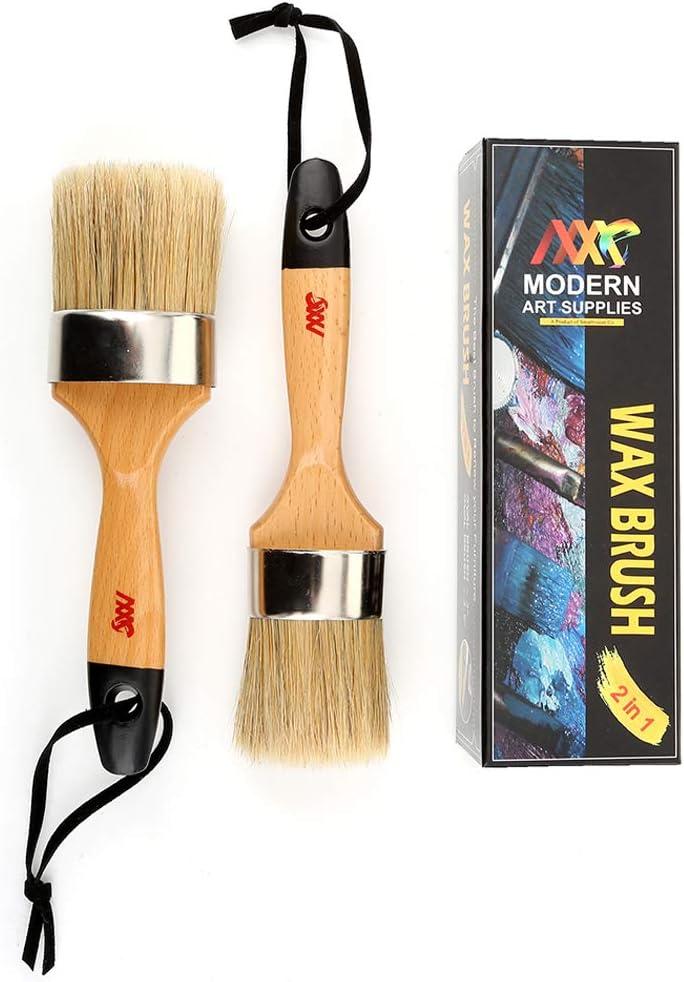 ULTNICE 5 St/ück Kreidefarbe Wachs Pinsel mit Holzgriff zum Malen Wachsen M/öbel Home Decor