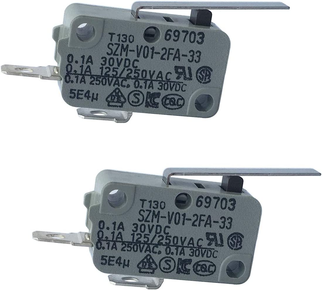 LONYE 6600JB3001C Refrigerator Dispenser Switch for LG Kenmore Refrigerator SZM-V01-2FA-33 PS3529276(Normally Open)(Pack of 2)
