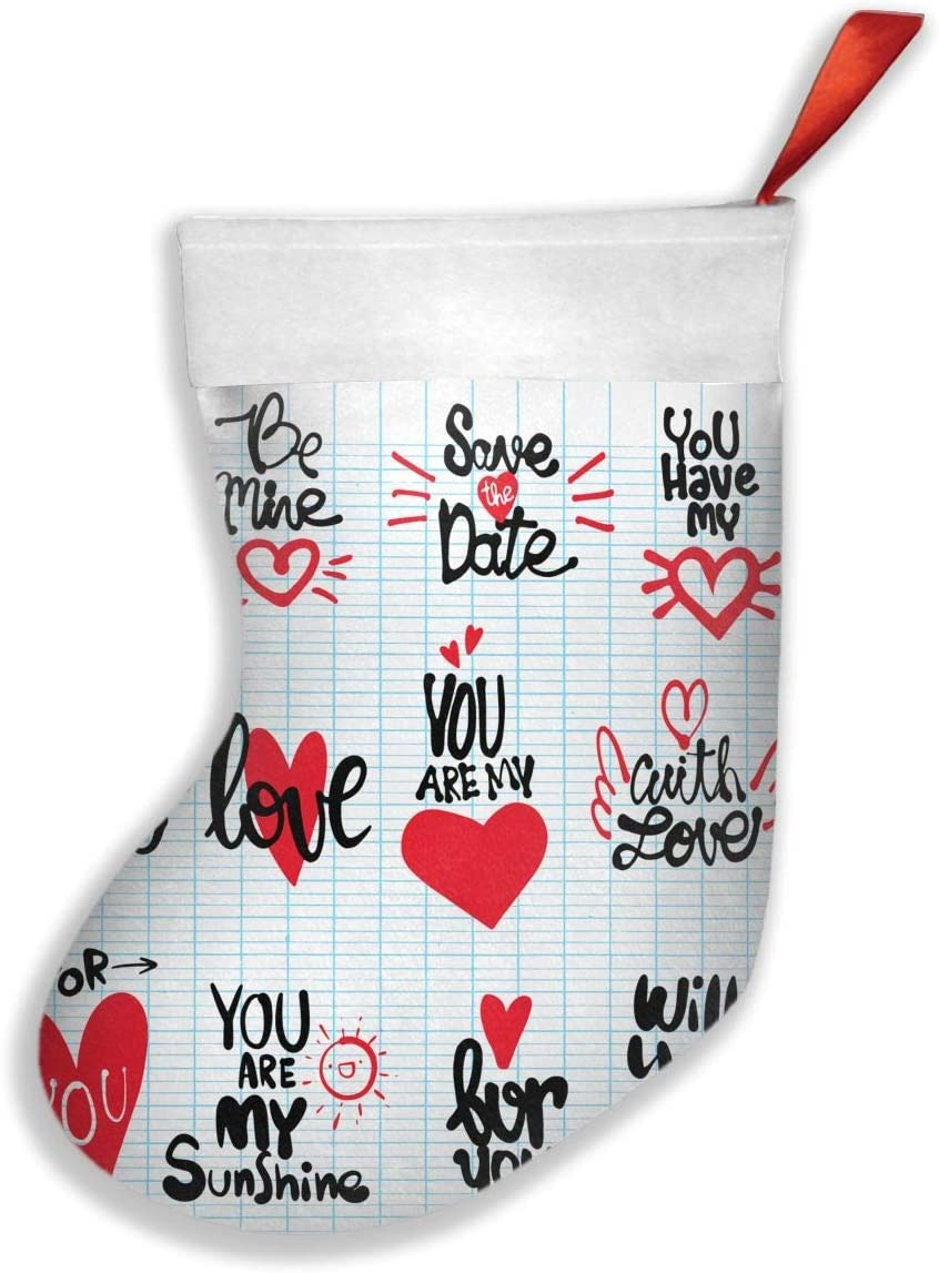 Amazon Com With Love For You Will You Marry Me Fashion Unique Christmas Stockings Personalized Gift Socks Candy Socks Xmas Party Decor Home Kitchen