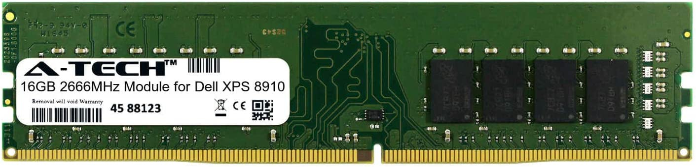 A-Tech 16GB Module for Dell XPS 8910 Desktop & Workstation Motherboard Compatible DDR4 2666Mhz Memory Ram (ATMS360886A25823X1)