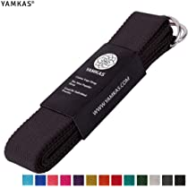 Yamkas Cinturon Yoga Correa | 1.8m - 3M | Correas Yoga Estiramiento | Yoga Strap Belt 100% Algodon |