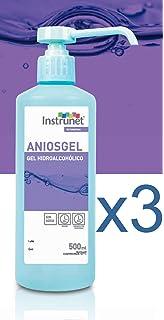 Limpiador desinfectante de manos Hidroalcohólico en Gel Aniosgel 500ml, Pack 3 unidades. Para la