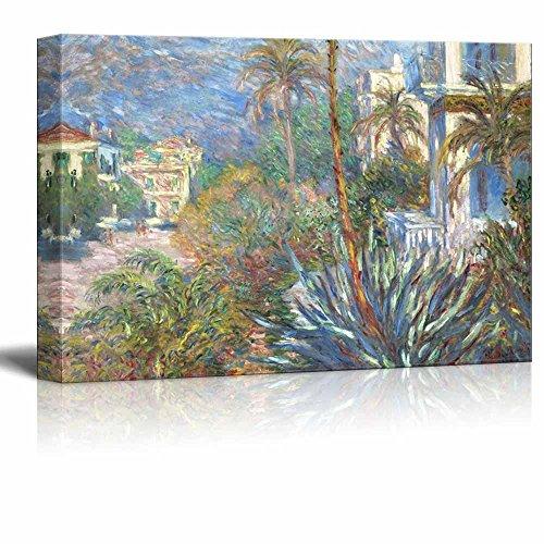 Villas at Bordighera by Claude Monet Print Famous Oil Painting Reproduction