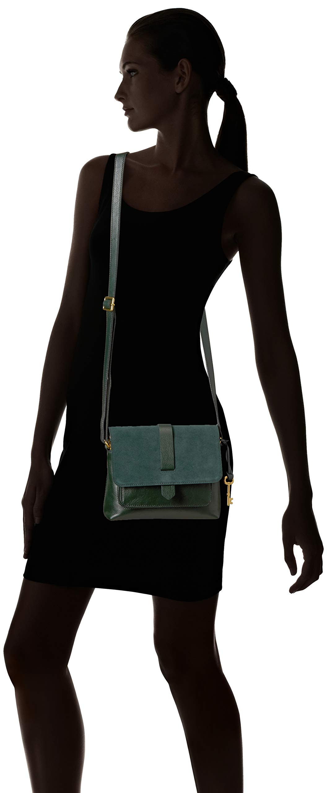 Fossil Womens Kinley Small Crossbody Purse Handbag