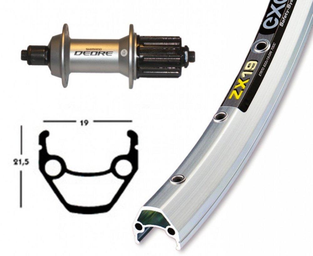Bike-Parts 28´´ Hinterrad Exal ZX 19 + Shimano Deore 8 9-fach (QR)