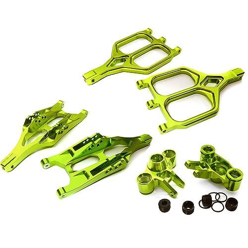 Integy RC Model Hop-ups C28156GREEN Billet Machined Front Suspension Set for 1/10 T-Maxx/E-Maxx 3903/5/8, 4907/8