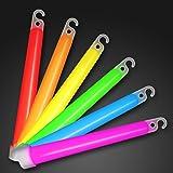 """25 Premium 6"""" Glow Sticks in Assorted Colors"""