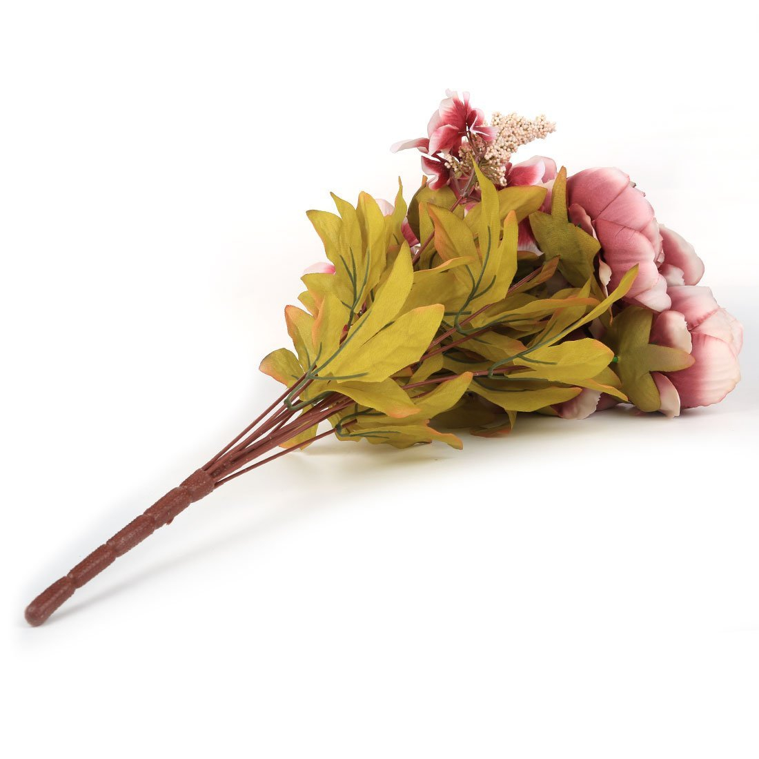 eDealMax Fleurs artificielles, artificiel Pivoine Fleurs en Soie Bouquet Accueil décoration de Mariage lumière Pourpre