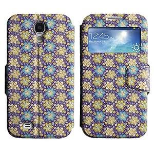 LEOCASE flor linda Funda Carcasa Cuero Tapa Case Para Samsung Galaxy S4 I9500 No.1003076