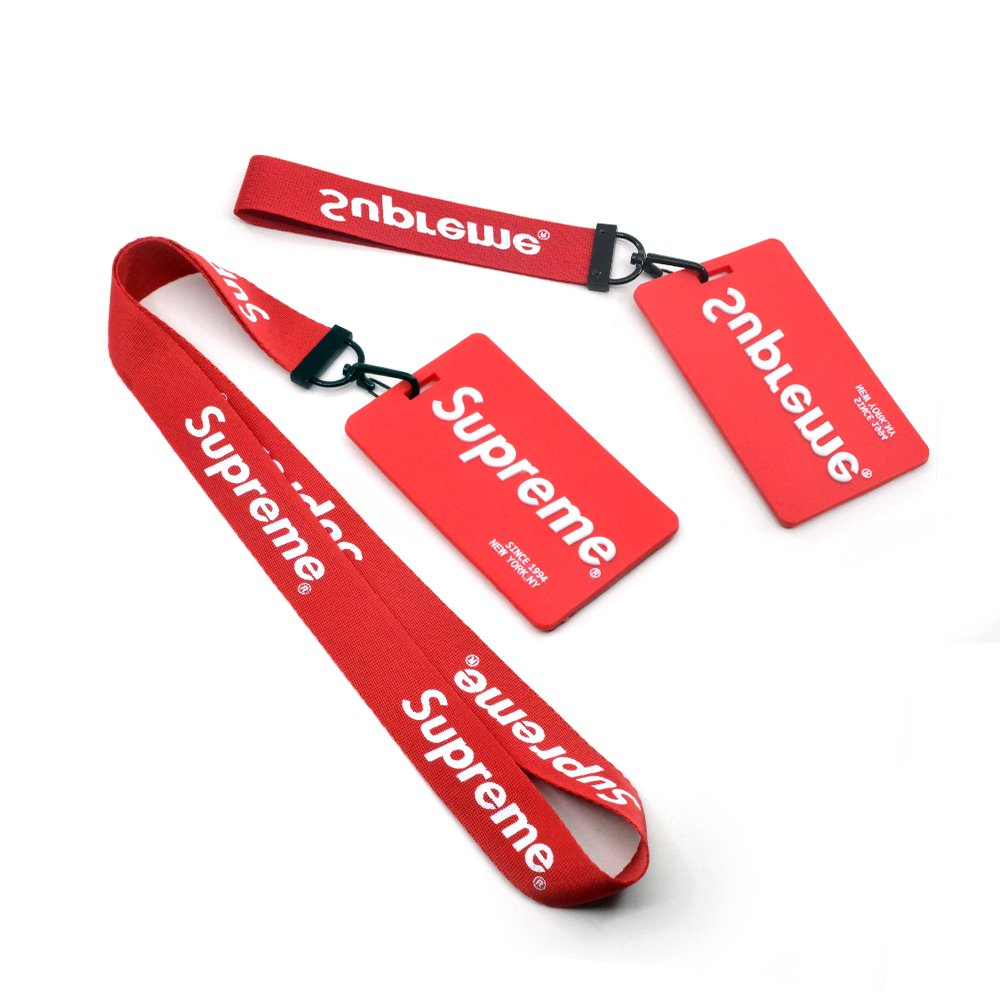 Lanyard 2 Pack with Cell Phone Finger Holder, Neck Lanyard for Keys Phones ID Badge Holder Bags Accessories Black and Red by Qiker (Image #4)